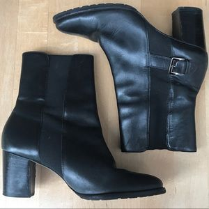 Cole Hann Black Ankle Booties